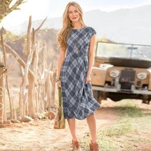 Sundance Falling Waters Plaid Wool Midi Dress, 6